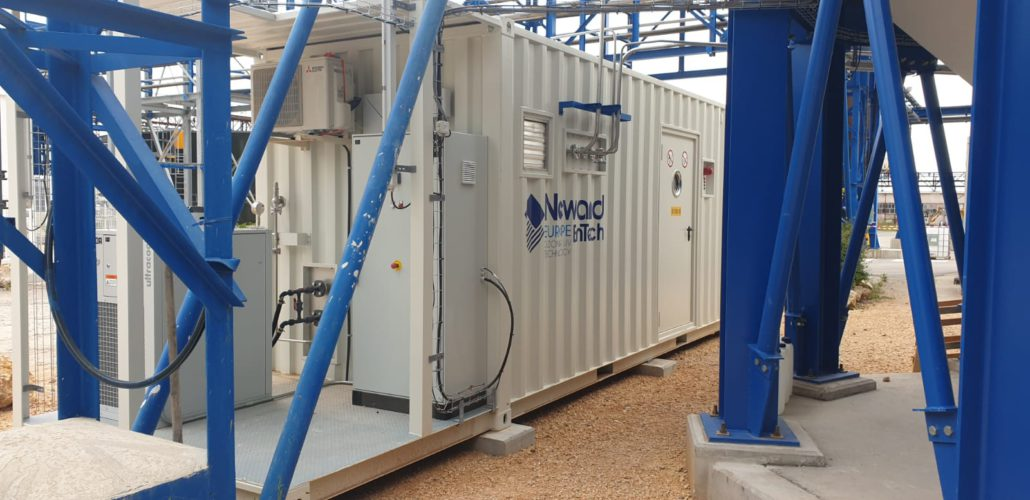 Newland EnTech Europe - Ozone generator container for AXENS GROUP´s in France